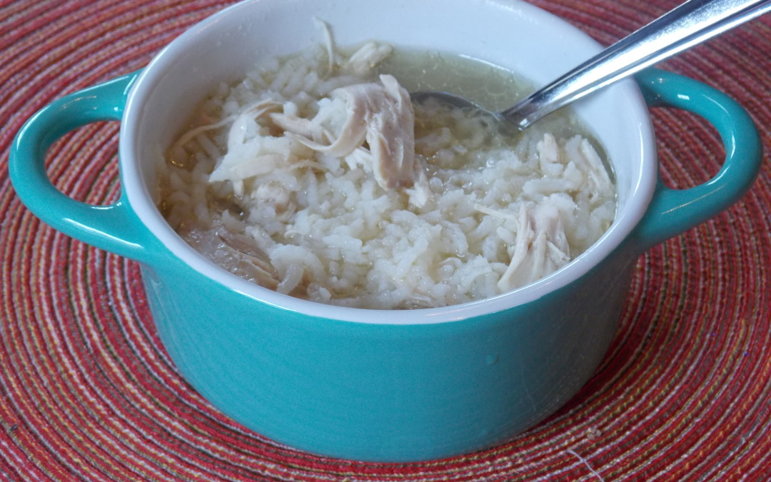 The 1, 2, 3 Punch Chicken Rice Soup
